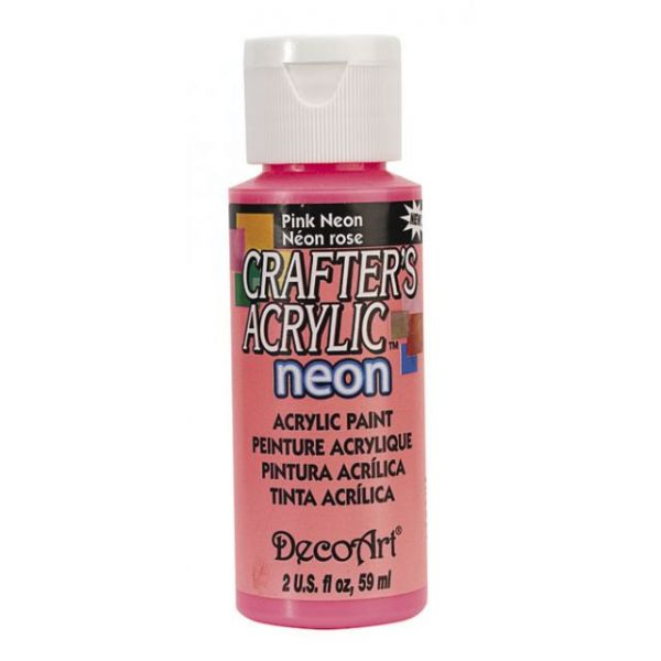 Deco Art Crafter's Acrylic Pink Neon Acrylic Paint