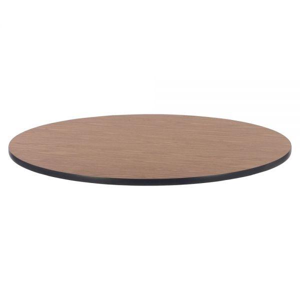Lorell Medium Oak Laminate Round Activity Tabletop