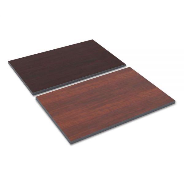 Alera Reversible Laminate Table Top, Rectangular, 36w x 24d, Medium Cherry/Mahogany