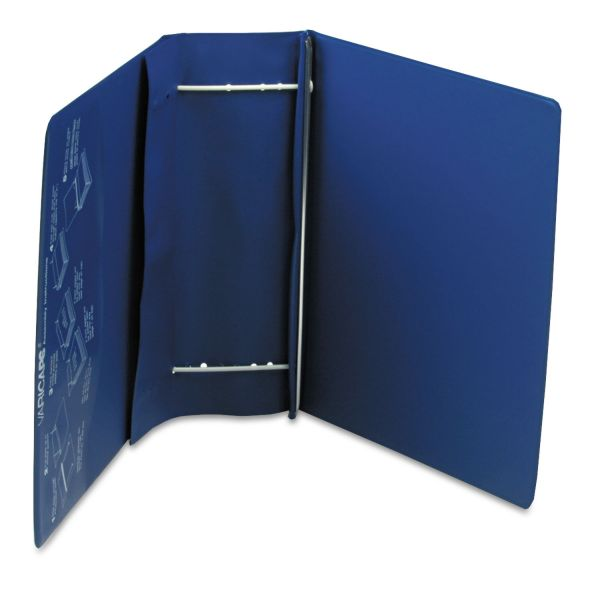 Charles Leonard Varicap6 Expandable 1 To 6 Post Binder, 11 x 8-1/2, Blue