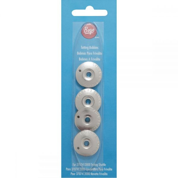 Metal Tatting Shuttle Refill Bobbins 4/Pkg