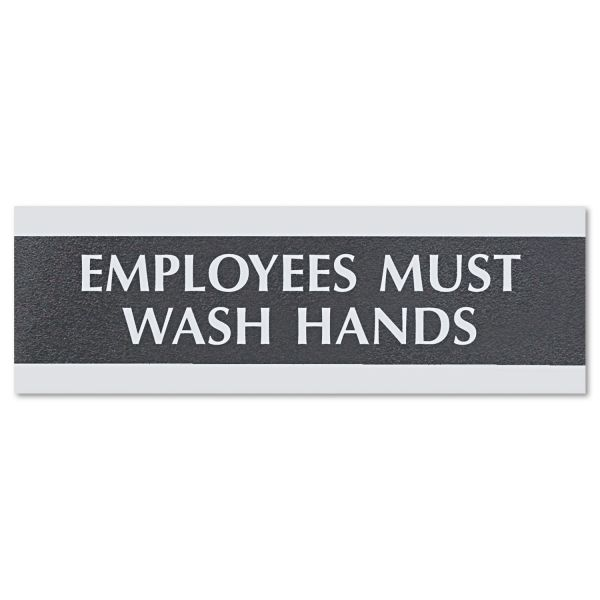 "U.S. Stamp & Sign ""Employees Must Wash Hands"" Sign"