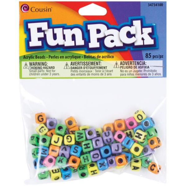 Fun Pack Acrylic Alphabet Beads