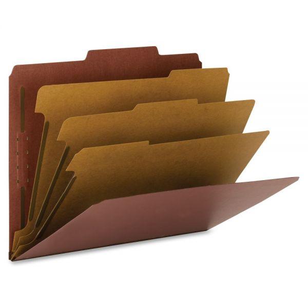 Smead Red Pressboard Classification Folders
