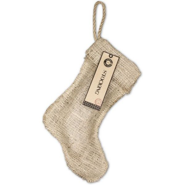 "Burlap Small Stocking 8""X10.5"""