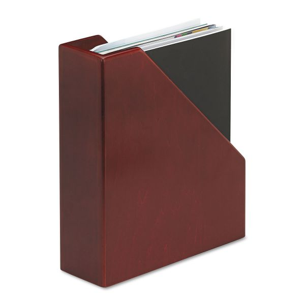 Rolodex Wood Tones Magazine File, 3 1/2 x 10 1/4 x 11 3/4, Mahogany