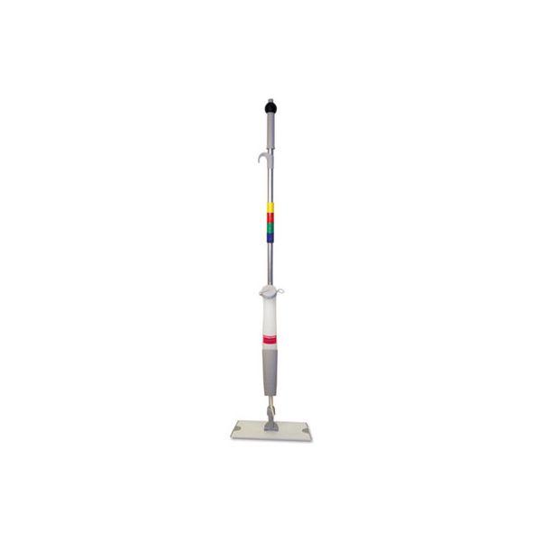 """Boardwalk Bucketless Microfiber Mop System, 5 x 18 Head, 59"""" Handle, Blue/Gray"""