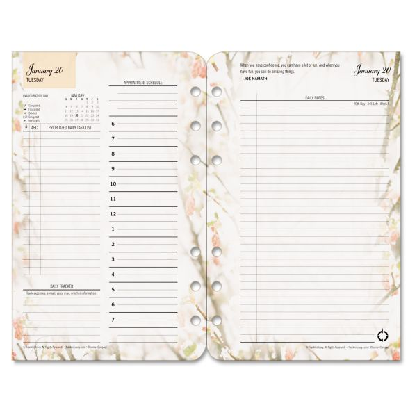 Franklin Covey Blooms Garden Design Planner Refill