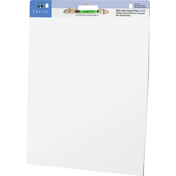 Sparco Plain Self-Stick Easel Pads