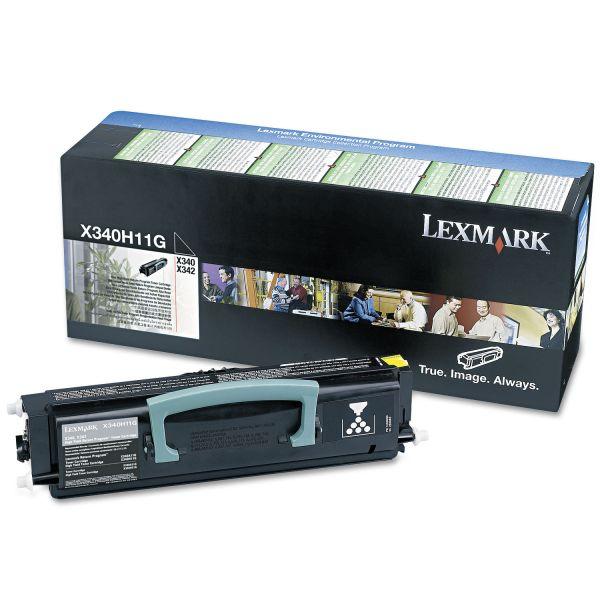 Lexmark X340H11G High-Yield Return Prgrm Toner, 6,000 Pg-Yld, Black