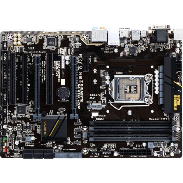 Gigabyte Ultra Durable GA-B150-HD3P Desktop Motherboard - Intel Chipset - Socket H4 LGA-1151