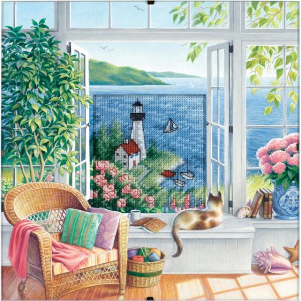 Dimensions Daydreams Beach Tranquility Counted Cross Stitch Kit