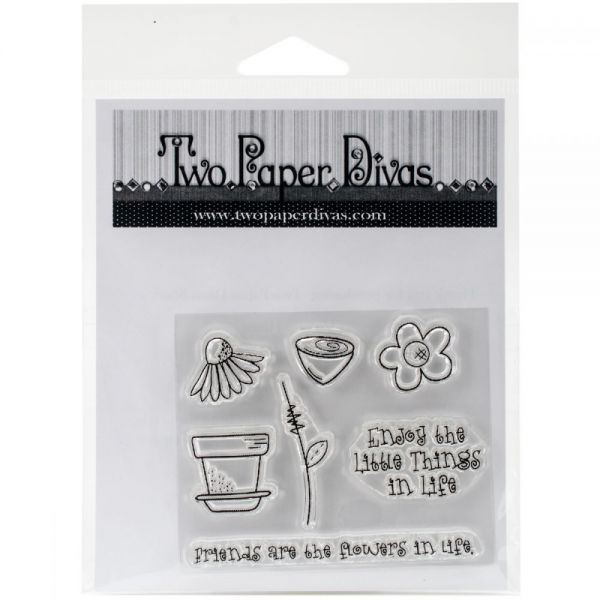 "Two Paper Divas Clear Stamps 6.5""X4.5"""