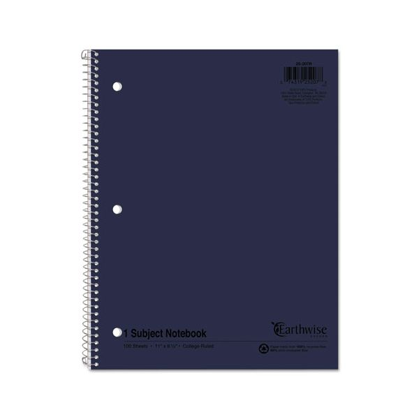 Oxford Earthwise by Oxford Recycled 1-Subject Notebooks, 11 x 8 1/2, 100 Sheets