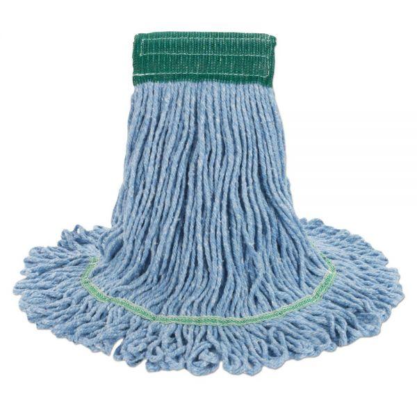 Boardwalk Super Loop Wet Mop Head, Cotton/Synthetic, Medium Size, Blue, 12/Carton