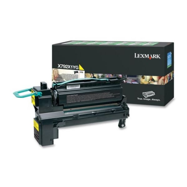 Lexmark X792X1YG Yellow High Yield Toner Cartridge
