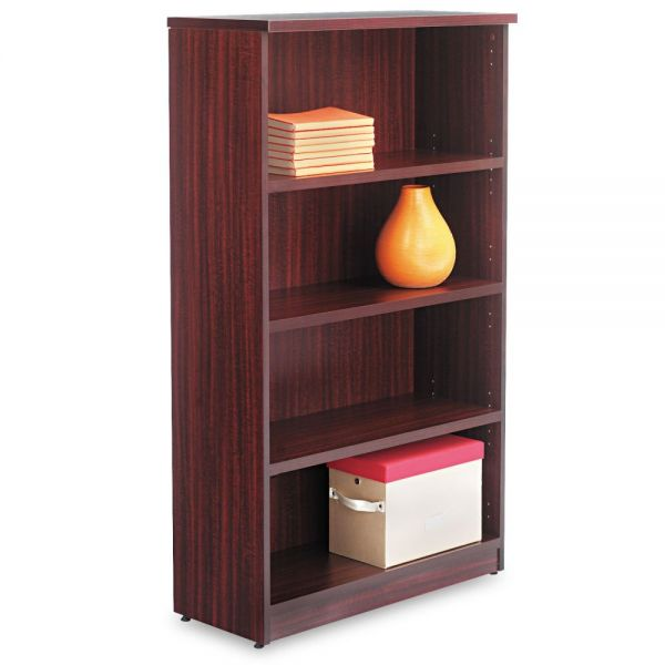 Alera Valencia Series 4-Shelf Laminate Bookcase