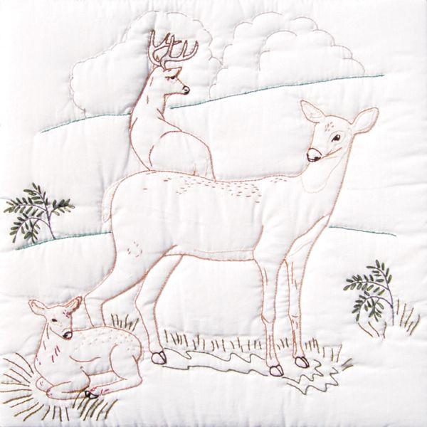 Stamped White Quilt Blocks