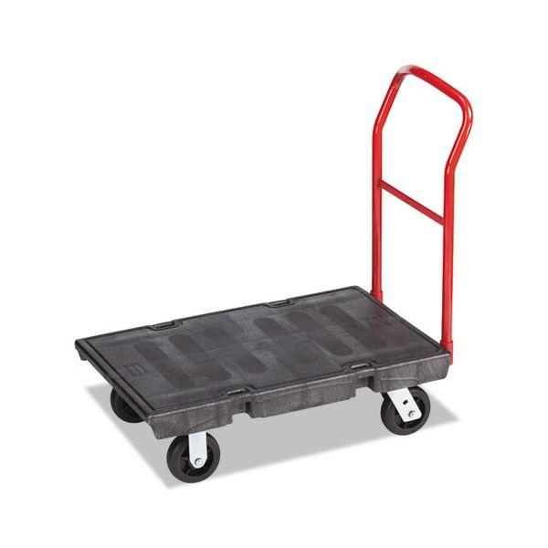 "Rubbermaid Commercial Heavy-Duty Platform Truck Cart, 500 lb Capacity, 24"" x 36"" Platform, Black"