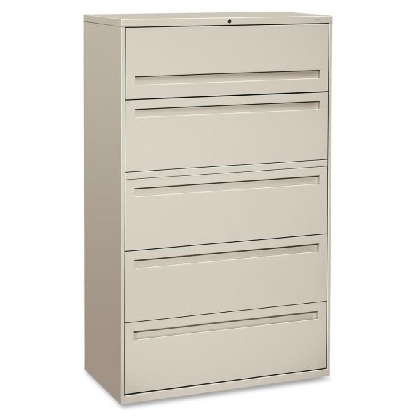 HON 700 Series 5 Drawer Locking Lateral File Cabinet