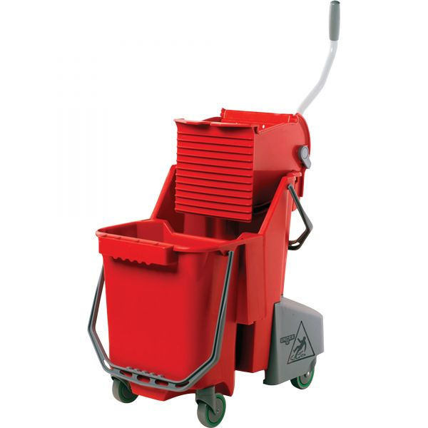 Unger Side-Press Restroom Mop Bucket Combo