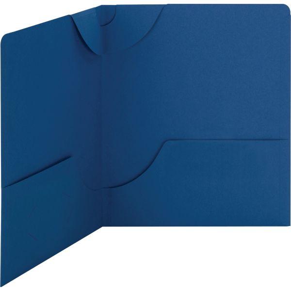 Smead Dark Blue Lockit Two Pocket Folders