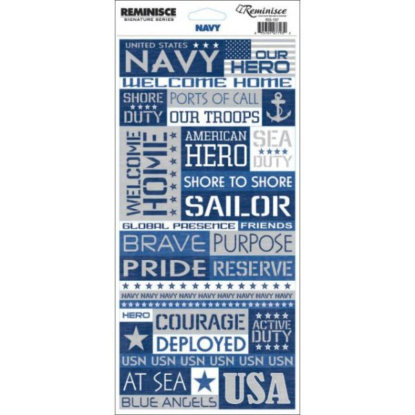 "Signature Series Military Stickers 4.5""X10.25"" Sheet"