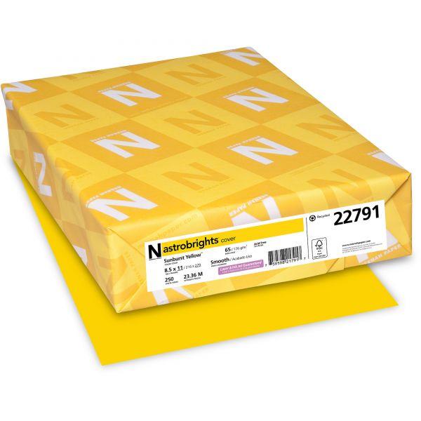 Neenah Paper Astrobrights Sunburst Yellow Colored Card Stock