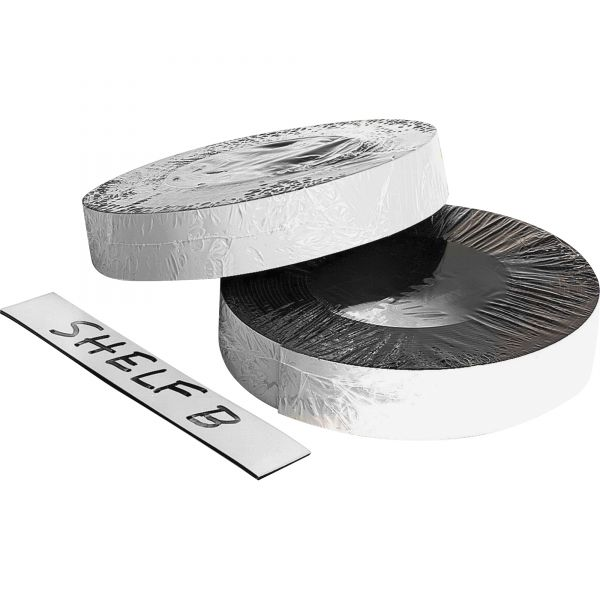 "ZEUS Dry Erase Magnetic Label Tape, White,1"" x 50 ft."