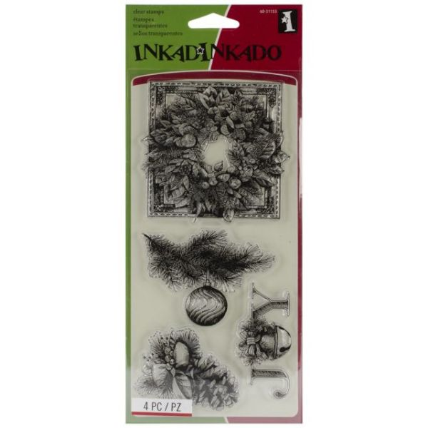 "Inkakinkado Christmas Clear Stamps 4""X8"" Sheet"
