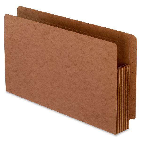 Pendaflex Heavy-Duty End Tab File Pockets, Straight Cut, 1 Pocket, Legal, Brown, 10/Box