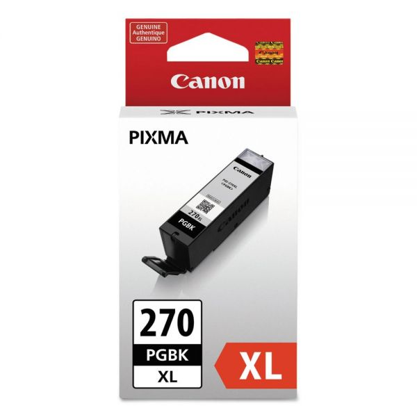 Canon PGI-270XL High-Yield Pigment Black Ink Cartridge (0319C001)