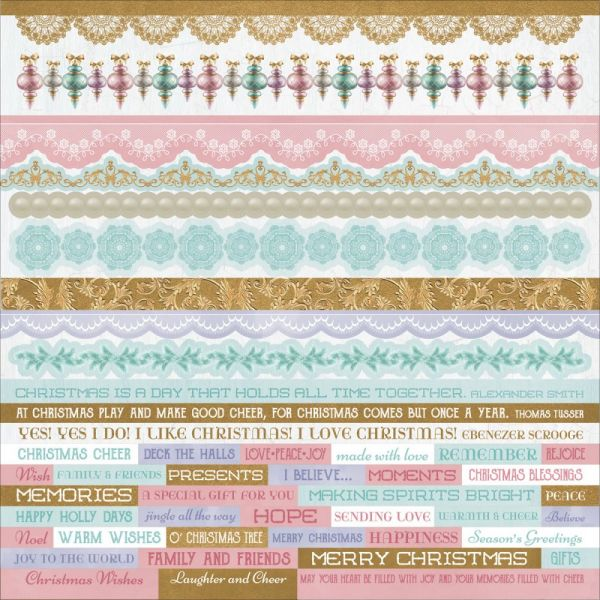 "Christmas Wishes Cardstock Stickers 12""X12"""