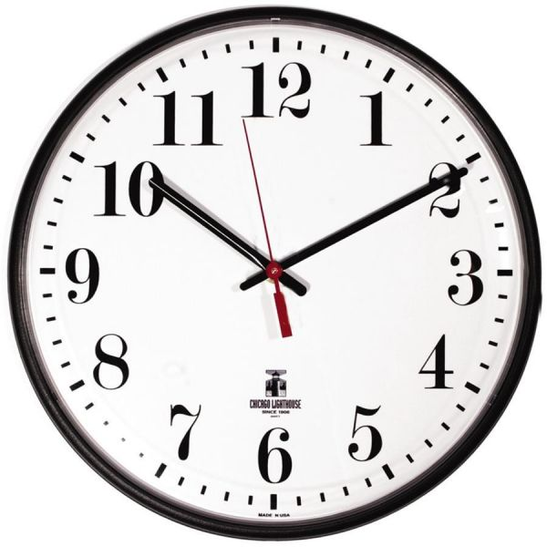 Chicago Lighthouse Indoor/Outdoor Wall Clock