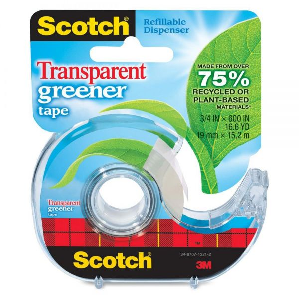 "Scotch 3/4"" Transparent Greener Tape"