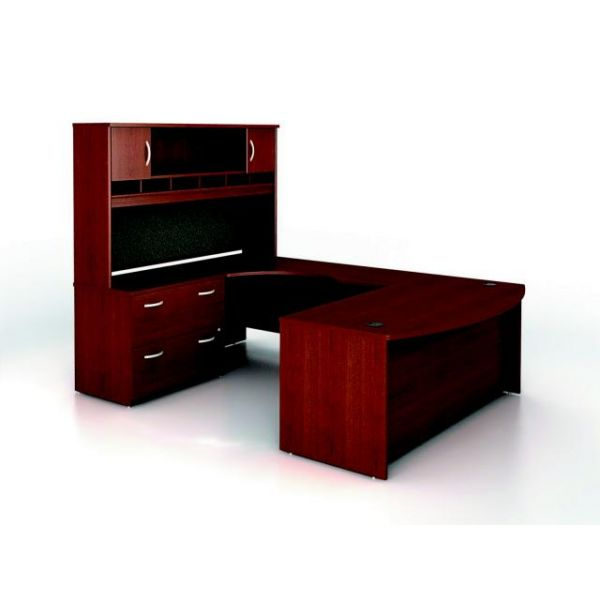 bbf Series C Executive Configuration - Mahogany finish by Bush Furniture