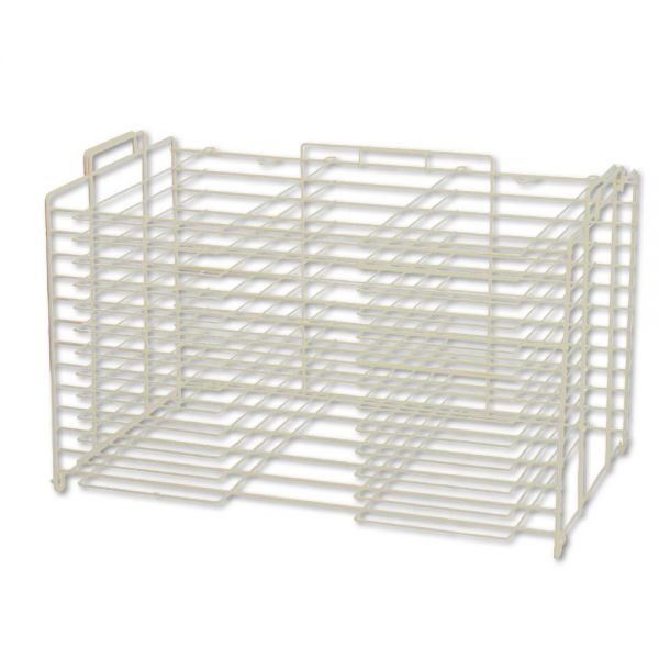 Pacon Board Storage/Drying Rack, 22w x28d, White 12 racks