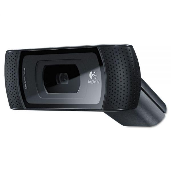 Logitech B910 HD Webcam, 720p, Black