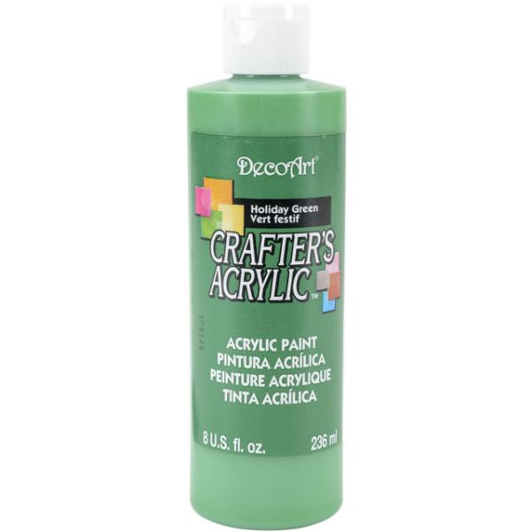 Deco Art Crafter's Acrylic Holiday Green Acrylic Paint