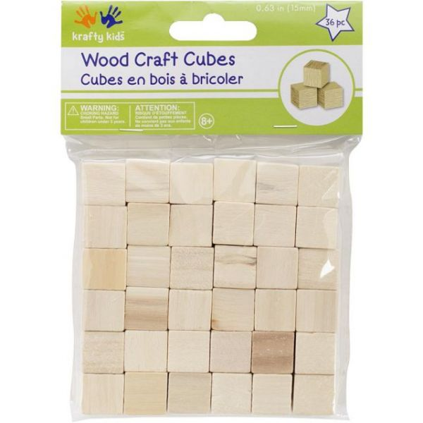 Krafty Kids Wood Craft Cubes