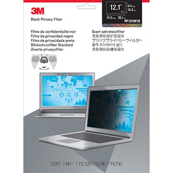 """3M Privacy Filter for 12.1"""" Widescreen Laptop (16:10)"""
