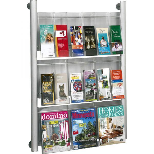 Safco Luxe 9 Pocket Magazine Wall Rack