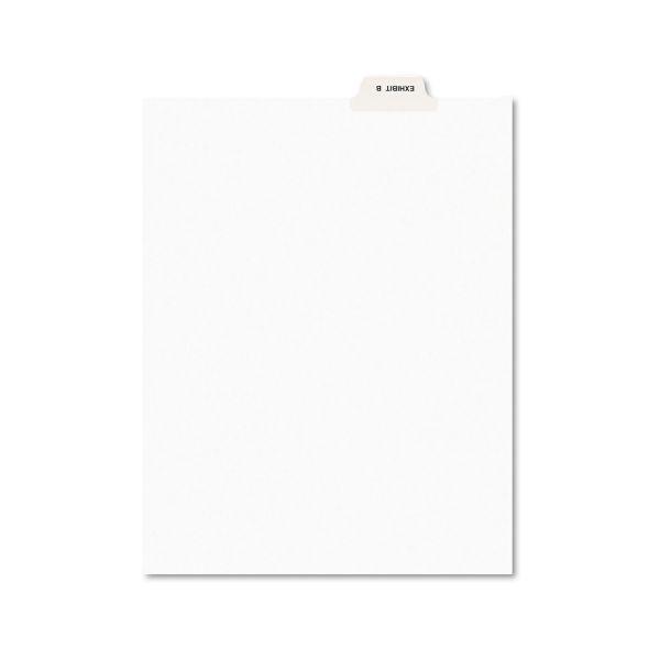 Avery Avery-Style Preprinted Legal Bottom Tab Divider, Exhibit B, Letter, White, 25/PK