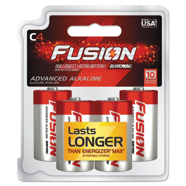 Rayovac Fusion Performance C Batteries