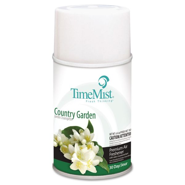 TimeMist Metered Fragrance Dispenser Refill, Country Garden, 6.6oz Aerosol
