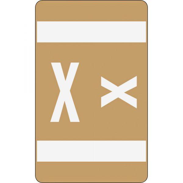 Smead AlphaZ ACCS Color-Coded Alphabetic Label - X