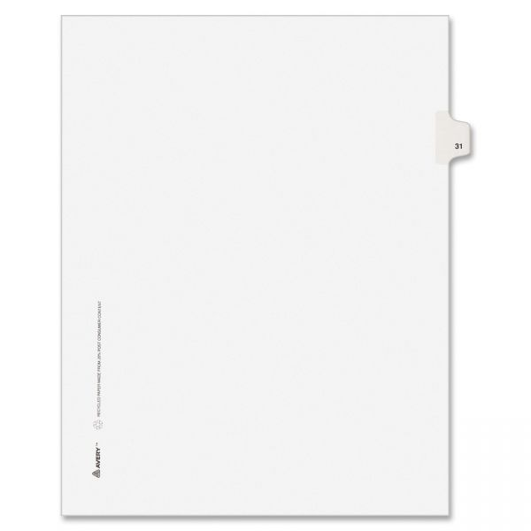 Avery Individual Legal Exhibit Dividers - Avery Style
