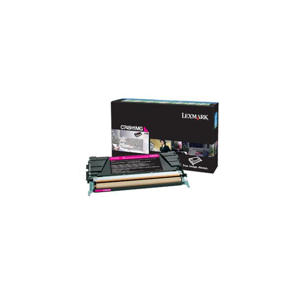 Lexmark C748H1MG Magenta High Yield Return Program Toner Cartridge