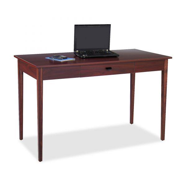 Safco Apres Table Desk, 48w x 24d x 30h, Mahogany