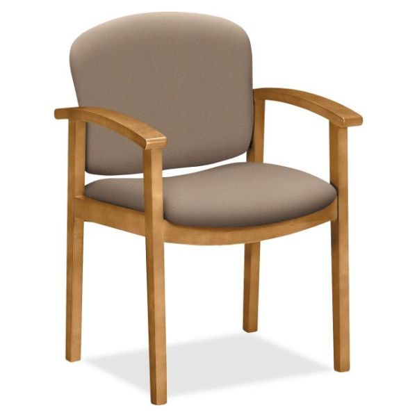 HON 2111 Single Rail Harvest Wood Guest Chair